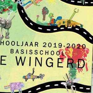 School kalender met een illustratie van elk kind